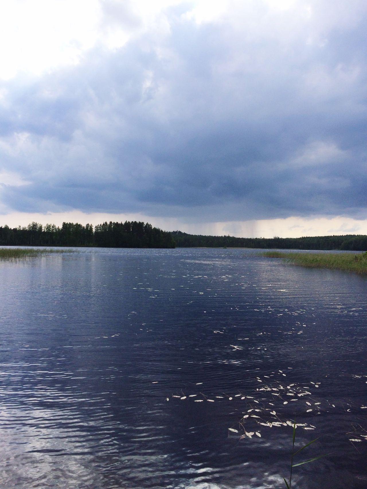 Midsummer Eve Summer Landscape Lake View Juhannus Summercottage Finland Nature