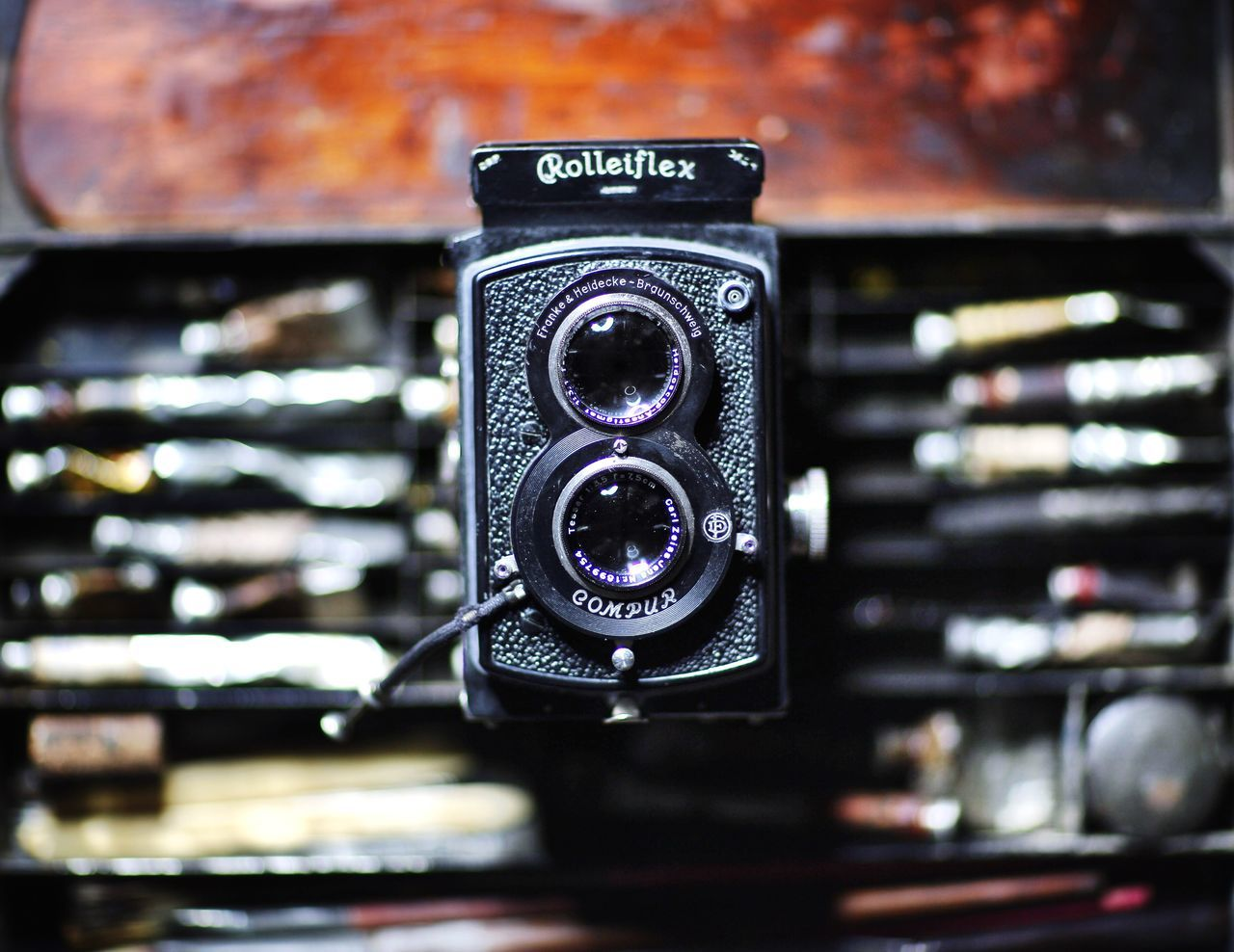 The Magic Box Rolleiflex TLR Camera Oil Painting Artist Material Camera Cameraporn Filmisnotdead First Eyeem Photo