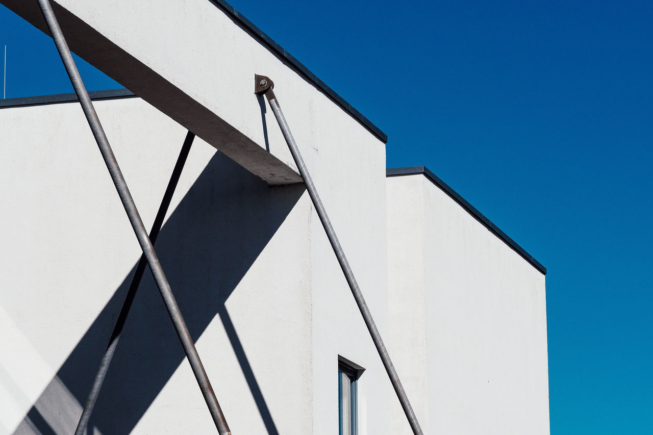 shadows Architecture Building Exterior Built Structure Clear Sky Day Low Angle View No People Outdoors Pattern Sky Sunlight