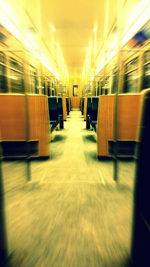 Colorful Symmetry Notes From The Underground EyeEm Munich Subway Empty Empty Train