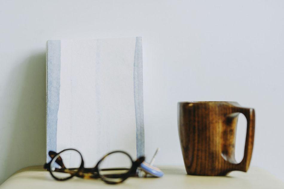 Book Close-up Day Desk Organizer Eyeglasses  Indoors  No People Reading Glasses Still Life Studio Shot Table White Background