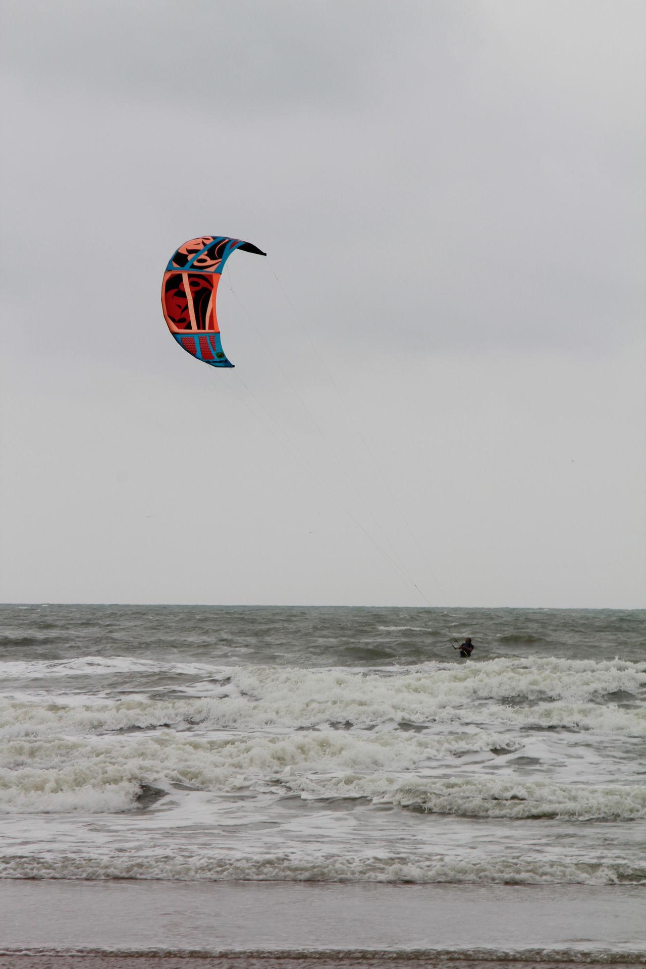 Adult Adventure Beach Extreme Sports Horizon Over Water Kite Kitesurfing Outdoors Sea Sport Water Watersports