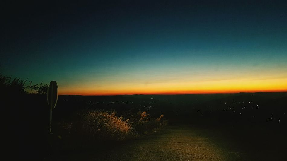 Road to nowhere Tranquil Scene Nature Sunset Tranquility Drink Day Scenics No People Outdoors Sky Beauty In Nature
