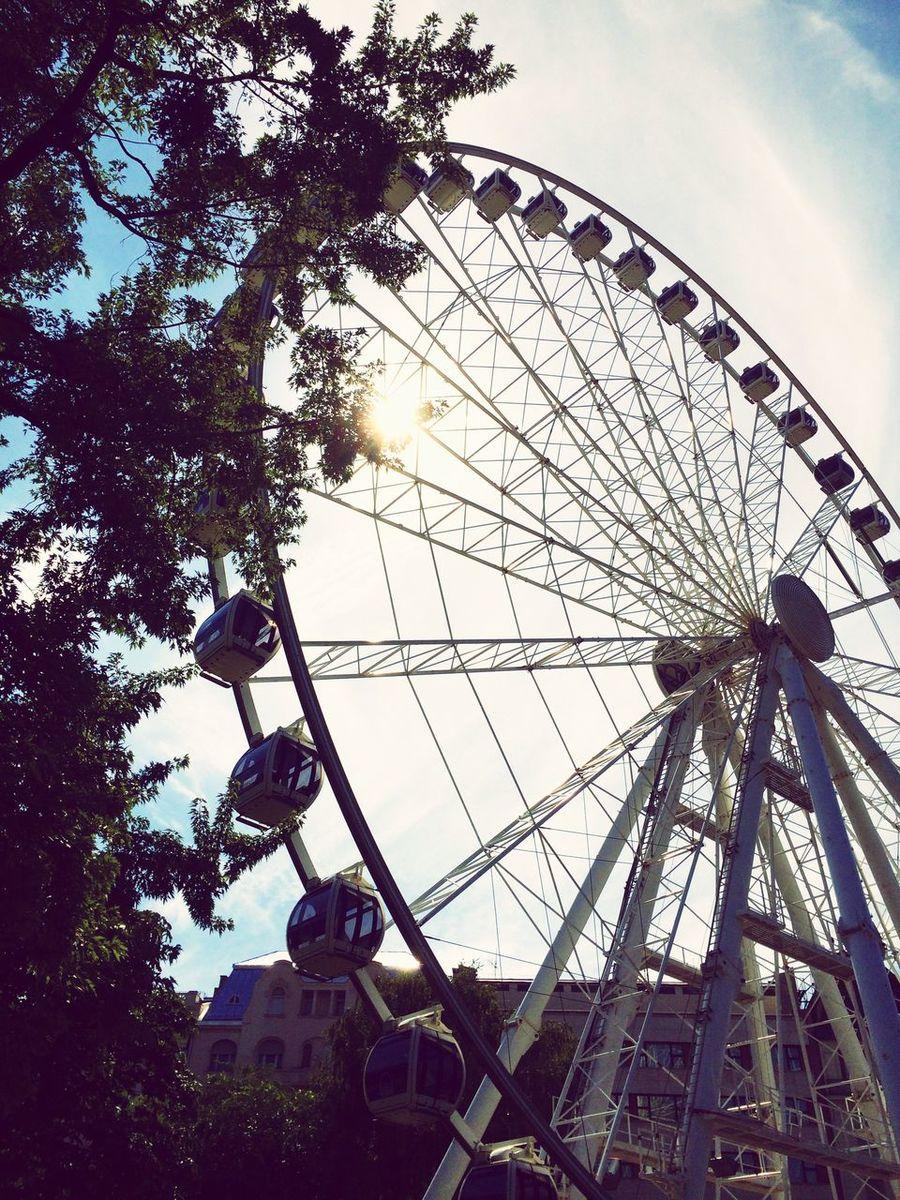 Szigeteye Budapest Hungary Deák Ferenc Tér Deak Square Ferris Wheel