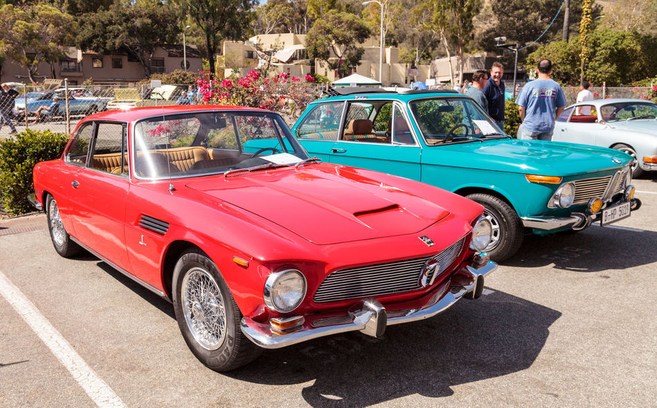 Laguna Beach, CA, USA - October 2, 2016: Red classic 1964 Rivolta GT Coupe owned by Ted Hirth and displayed at the Rotary Club of Laguna Beach 2016 Classic Car Show. Editorial use. 1964 Antique Car Car Car Show Classic Car Classic Car Show Day GT Coupe Laguna Beach Old Car Outdoors Red Rivolta Rivolta GT Rivolta GT Coupe Rivolta GT Coupe Vintage Car