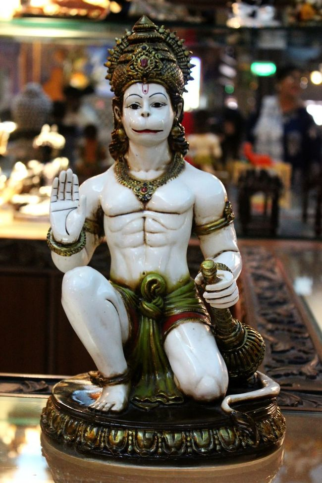 Gods Demigods Divine Lord Hanuman Beautiful Idol