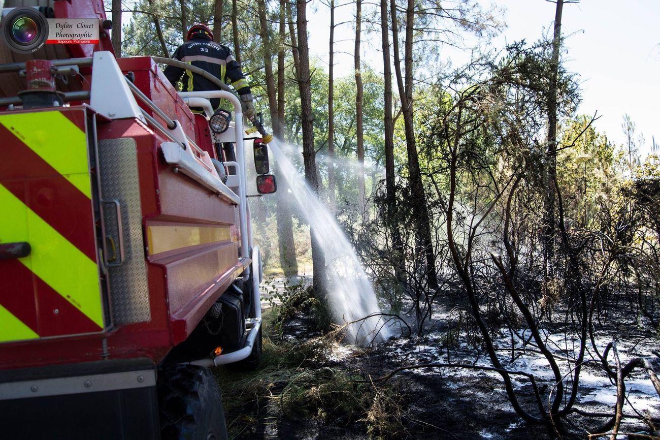 Pompiers Incendie Bordeaux Feudeforet Feu