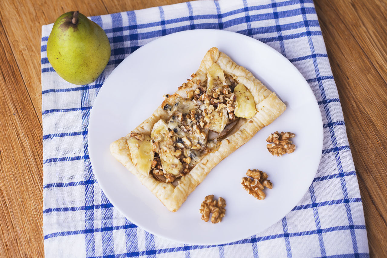 Handmade french tart with pear, camembert, bleu and walnuts! Baking Bleu Camembert Close-up Cooking At Home Day Eating Food Food And Drink French Freshness Fruit Handmade Healthy Eating Indoors  No People Pear Ready-to-eat Tart Walnuts