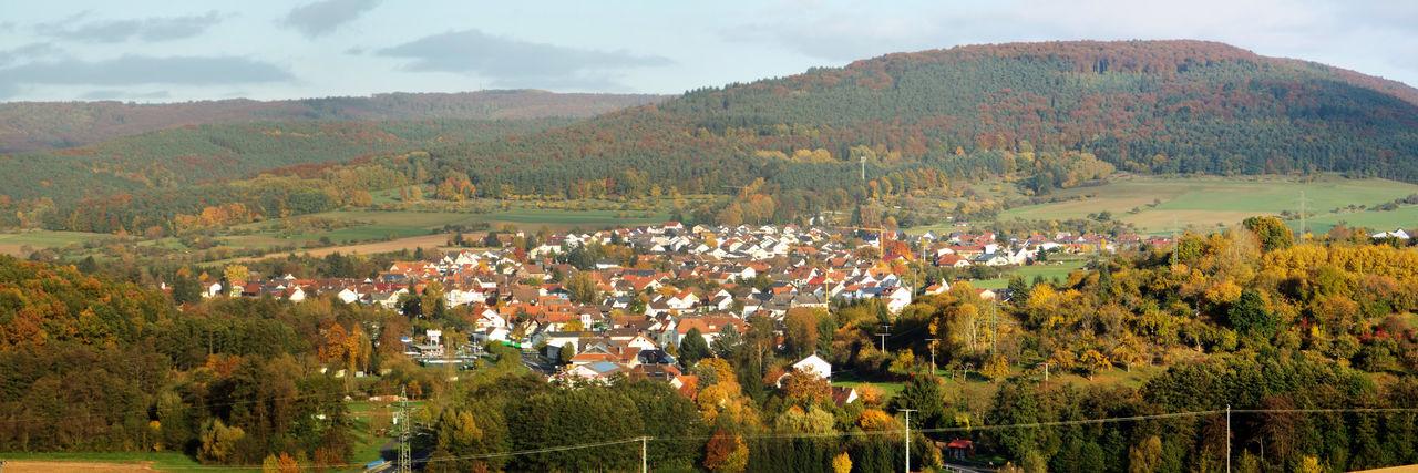 Abendsonne Bayern Germany Beauty In Nature Dorf Eschau Heimat Herbst Kleinstadt Landschaft Nature No People Outdoors Panorama