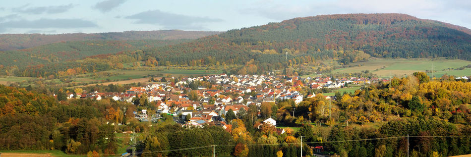 Abendsonne Bayern Germany Beauty In Nature Dorf Eschau Heimat Herbst Kleinstadt Landschaft Nature No People Outdoors Panorama