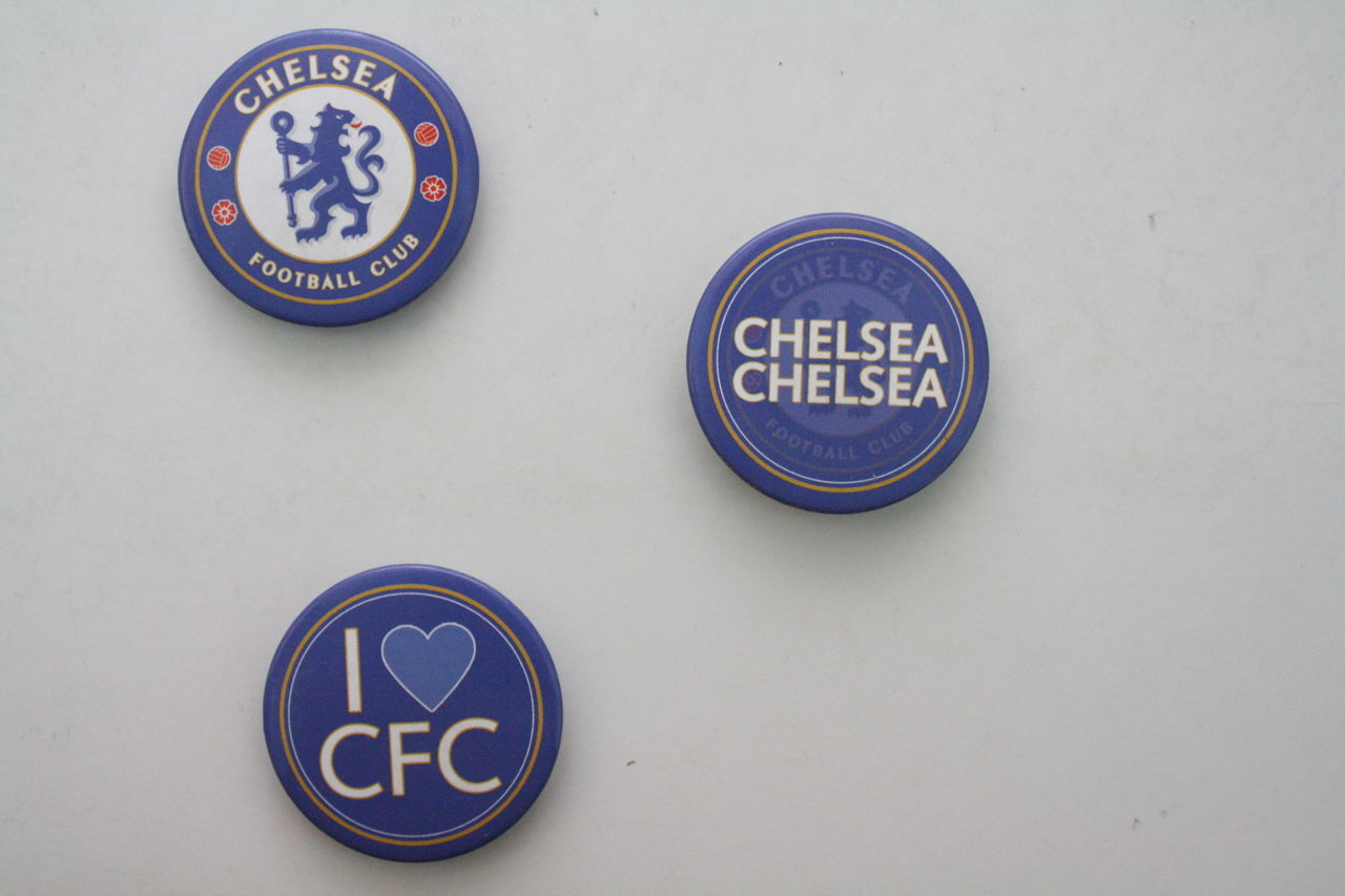 Chelsea Football Club merchandises Badge Blue Cfc CFCTID Chelsea Chelseafc Circle Close-up Day Logo Megastores No People Symbol Text White Background