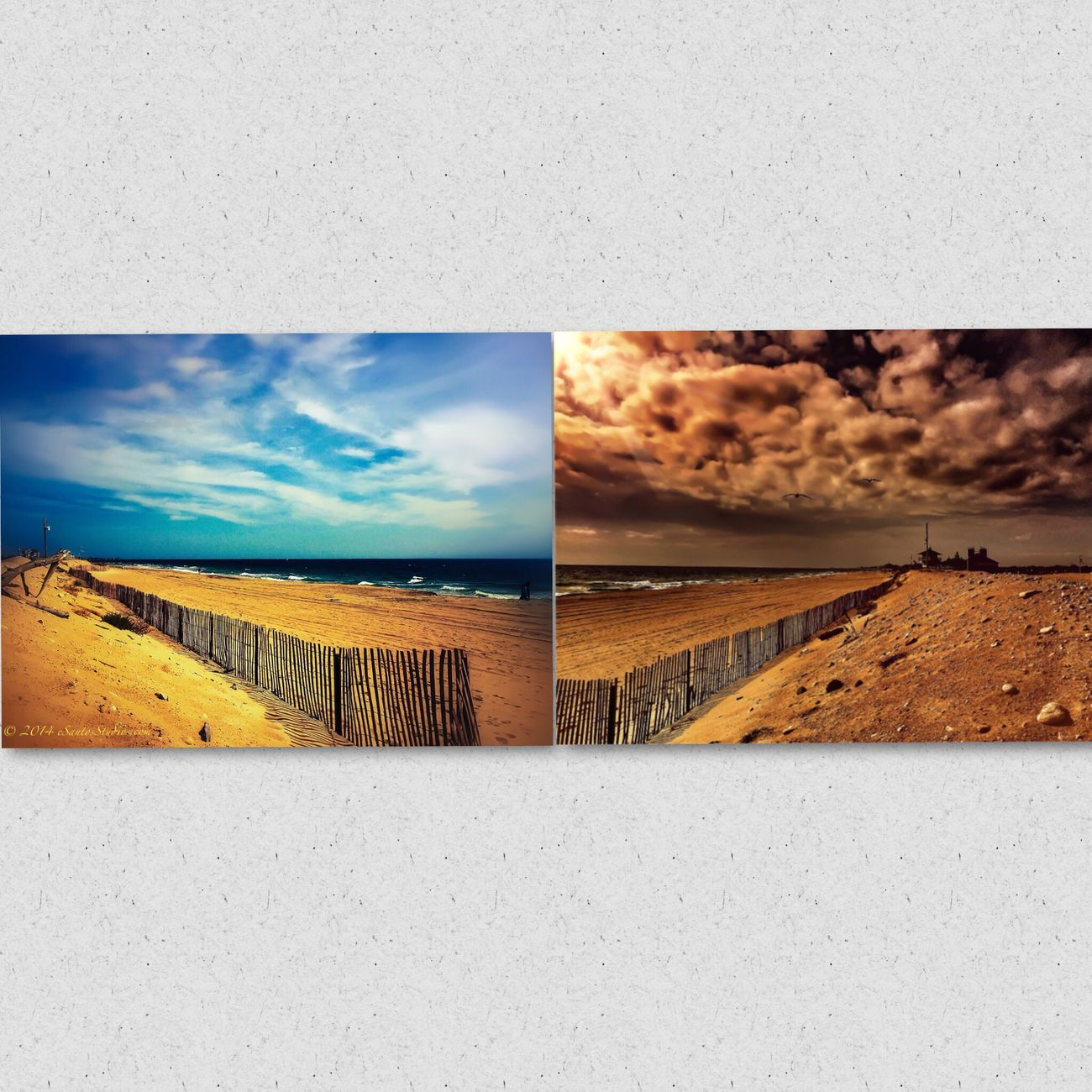 How the same landscape can look so different....Misquamicut Beach...Left side facing Weekapaug, Right side facing Watch Hill ;) www.eSantosStudio.com Ocean IPhoneography Being A Beach Bum Sea