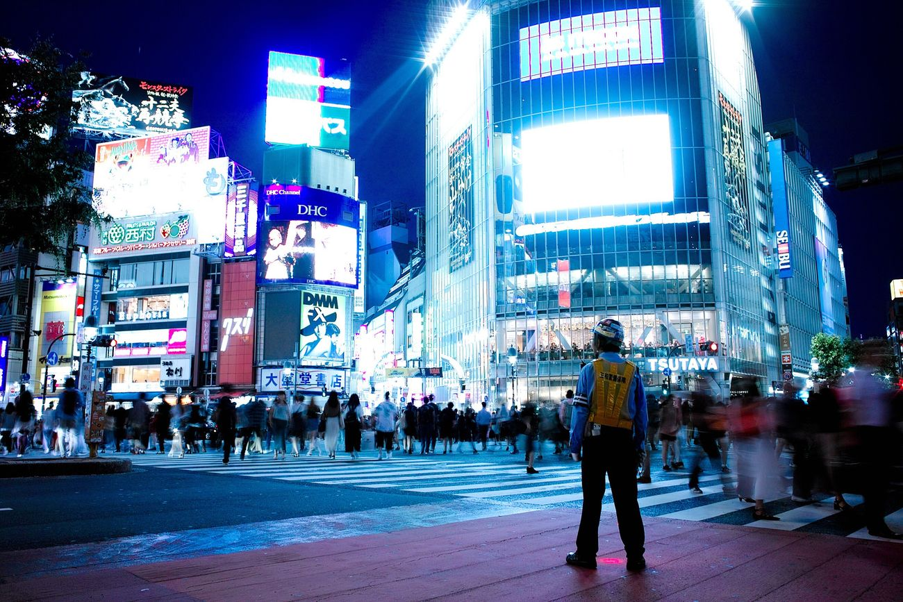 Large Group Of People Illuminated Night Crowd City Building Exterior Architecture Built Structure Real People Walking Men Travel Destinations Outdoors Full Length Skyscraper Women Neon People Adult Adults Only EyeEm Best Shots Eyeemphotography Shibuya EyeEm Gallery Police