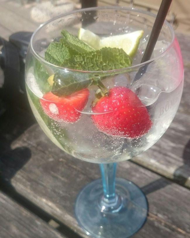 Gin garden: with elderflower, cucumber and tonic. Food Porn Awards