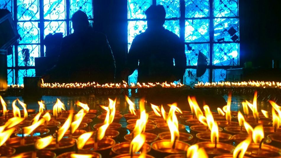 Nofilterneeded Nofilter Buddhist Temple Mcloedganj Candles Candles Of Faith Candles-collection Lightingup Lighting The Drakness Shadows And Backlighting
