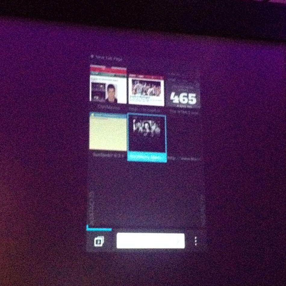 La opción de ventanas y mas visitados en la web con Blackberry10