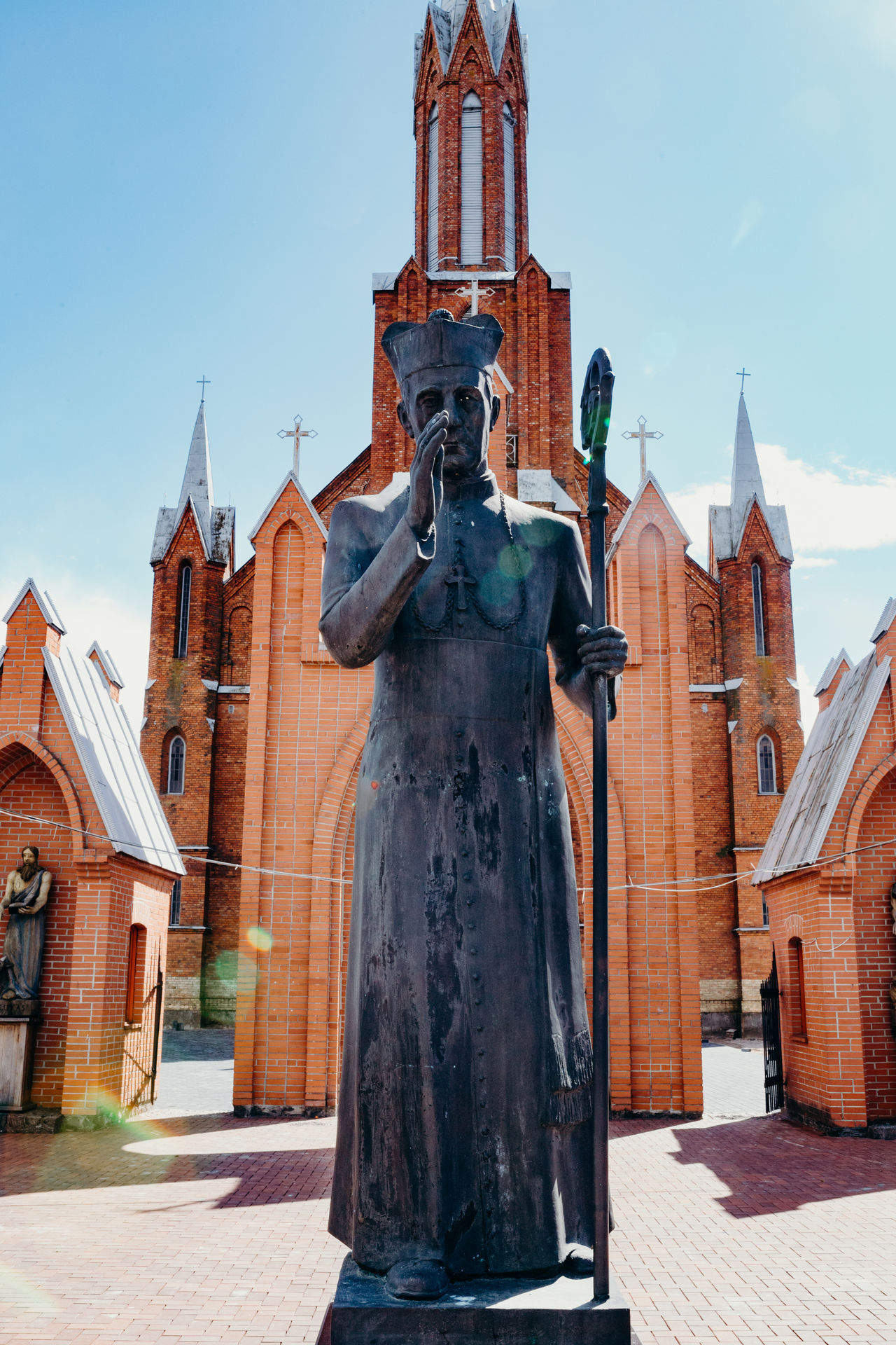 Architecture Building Exterior Built Structure Day History Human Representation Low Angle View Male Likeness No People Outdoors Place Of Worship Religion Sculpture Sky Spirituality Statue