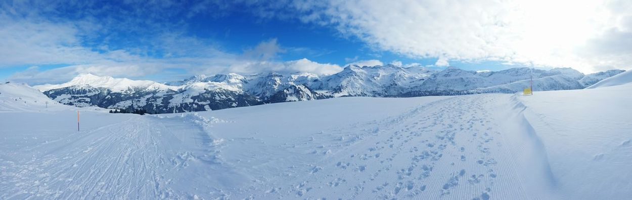 Leiterli, Lenk Schnee Snow Berner Oberland Piste Lenk Panorama