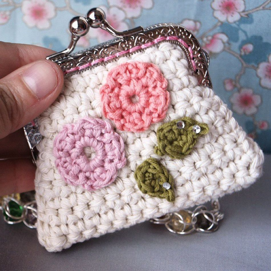Mini Monedero de amor <3 Coinpurse Crochet Ganchillo Handmadewithlove Handmade Vintage Shabbychic