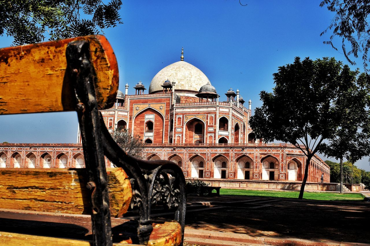 Architecture Built Structure Dome Building Exterior Travel Destinations Sky Clear Sky Tree Tourism Outdoors Façade Arch No People Day Monument Humayun's Tomb EyeEmNewHere Close-up Carnival Crowds And Details Architecture Streeetphotography Storytelling Awesome_view Old Delhi Delhi