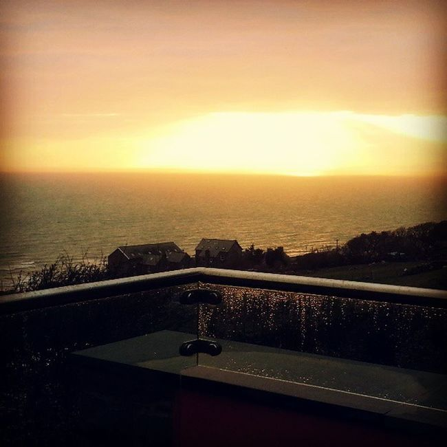 Sunset Ocean Barmouth Sunday Funtimes Greatfriends