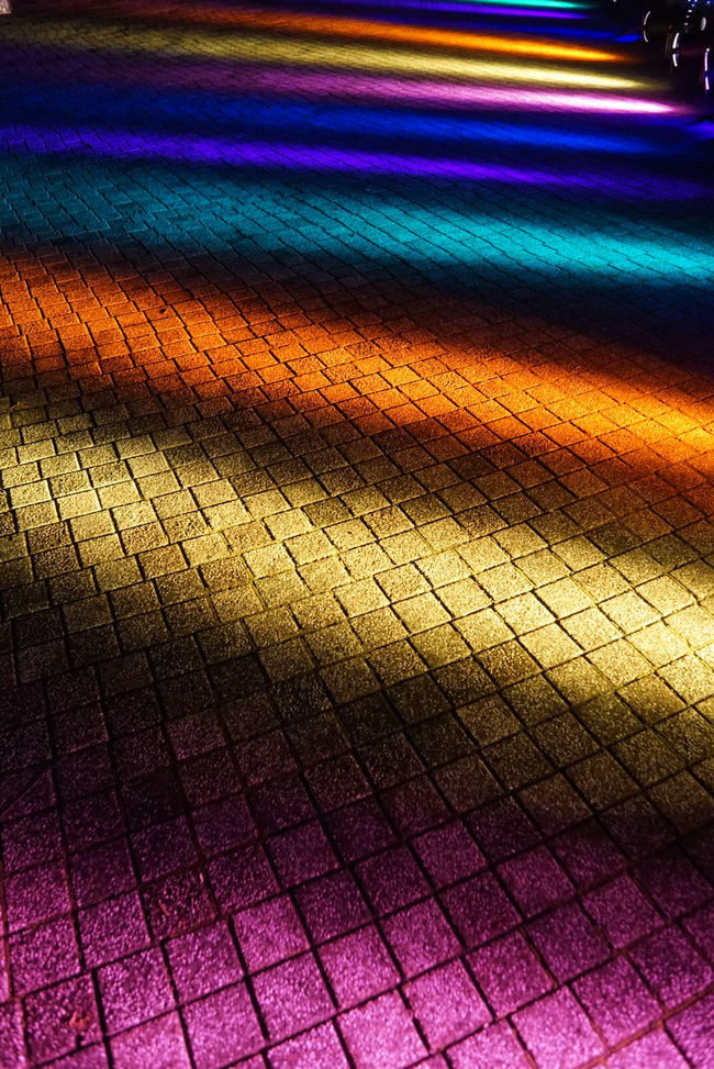 Rainbow Light And Shadow Illumination Colors Yokohama Japan EyeEm Best Shots Night Lights Lights Creative Light And Shadow Pattern Pieces