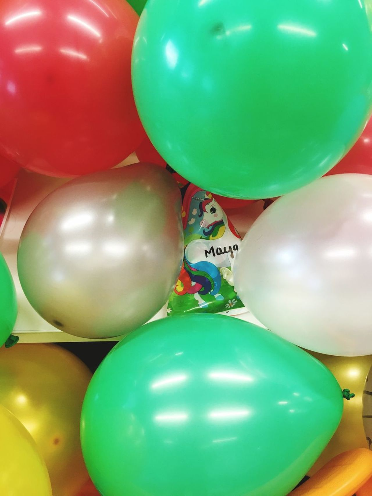 Unicorn theme party SneakPeek Party Decorations Unicorn Balloon Celebration Helium Balloon Multi Colored Green Color Helium Indoors  Large Group Of Objects Red Party - Social Event No People Close-up Day