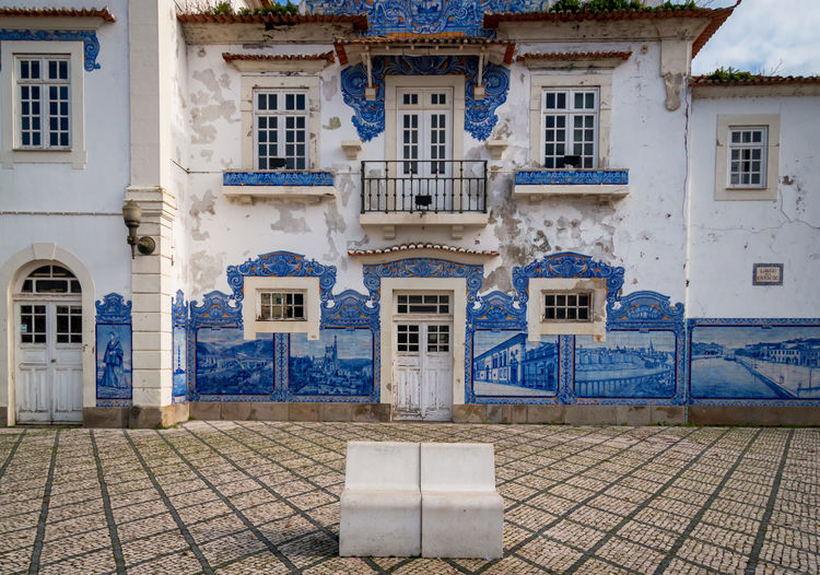 Aveiro oldt train station Architecture Aveiro Azulejos Porto Portugal Building Exterior Built Structure Day No People Outdoors Neighborhood Map
