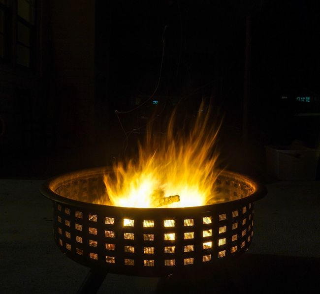 Cold nights. Hot fire Heat - Temperature Burning Flame Glowing No People Close-up Night Fire Pit Capturing Movement Blur Flames Fire Long Exposure Nightphotography