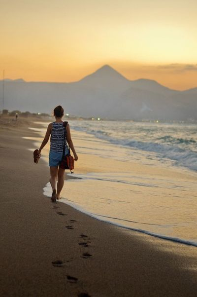 Crete Greece Holidays Beach Walking Sunset Sea Water Nature Mountains Outdoors