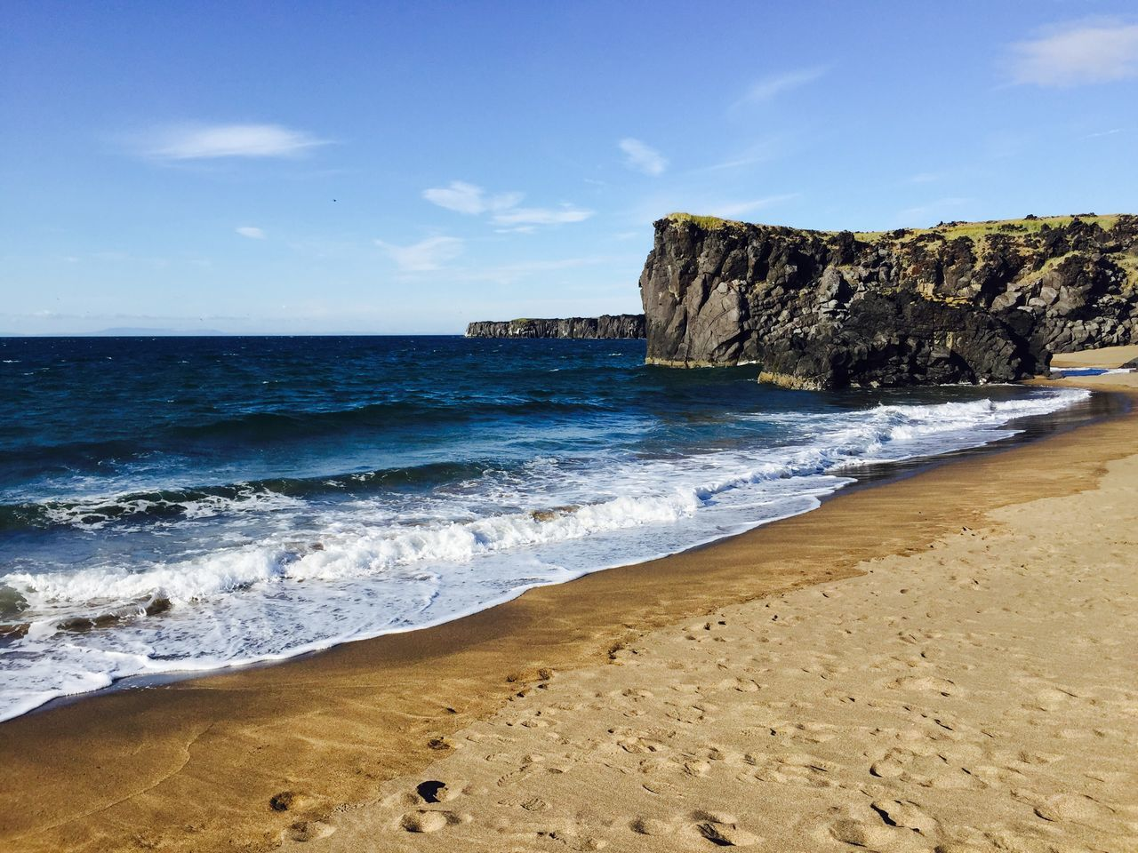 Beautiful stock photos of iceland, Horizontal Image, beach, beauty in nature, blue