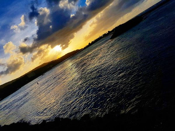 Sunset Cloud - Sky Sky Dramatic Sky Scenics Outdoors Beauty In Nature Water Life Island Life