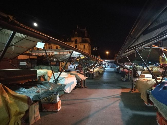 Night market in Sibiu, Bulgaria Night Travel Destinations Bridge - Man Made Structure City Horizontal People Person Outdoors Illuminated Adult Sky Only Men Tower Dark No People Scenics High Section Calm Tranquility Built Structure Building Story