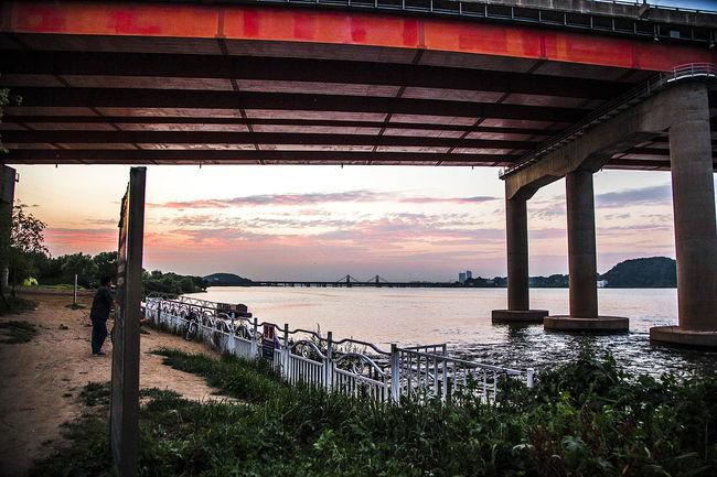 Bangwha Bridgeridge Haengjoo Bridge Bridge Han River Sunset Seoul South Korea Korea Bangwha Bridge
