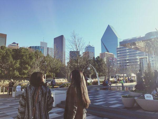 Friends Dallas Texas Skyline Downtown