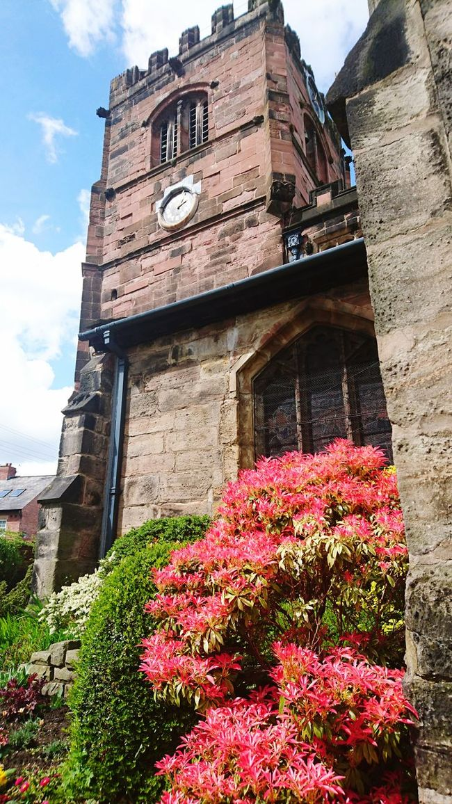 Church Picturesque Colours Old Buildings Historical Building Sacred Stone Clock Tower Check This Out Taking Photos Hello World Cheadle, Cheshire, UK.