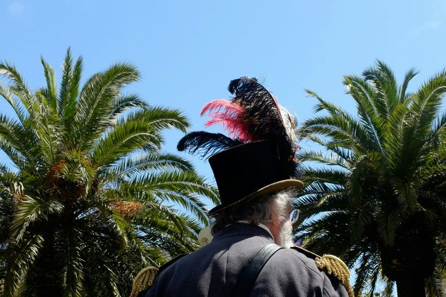 Streetphotography Street Photography Palm Trees Palms Feathers Hat Costume Capture The Moment Old But Awesome Picturing Individuality Better Look Twice The Street Photographer - 2016 EyeEm Awards Sommergefühle