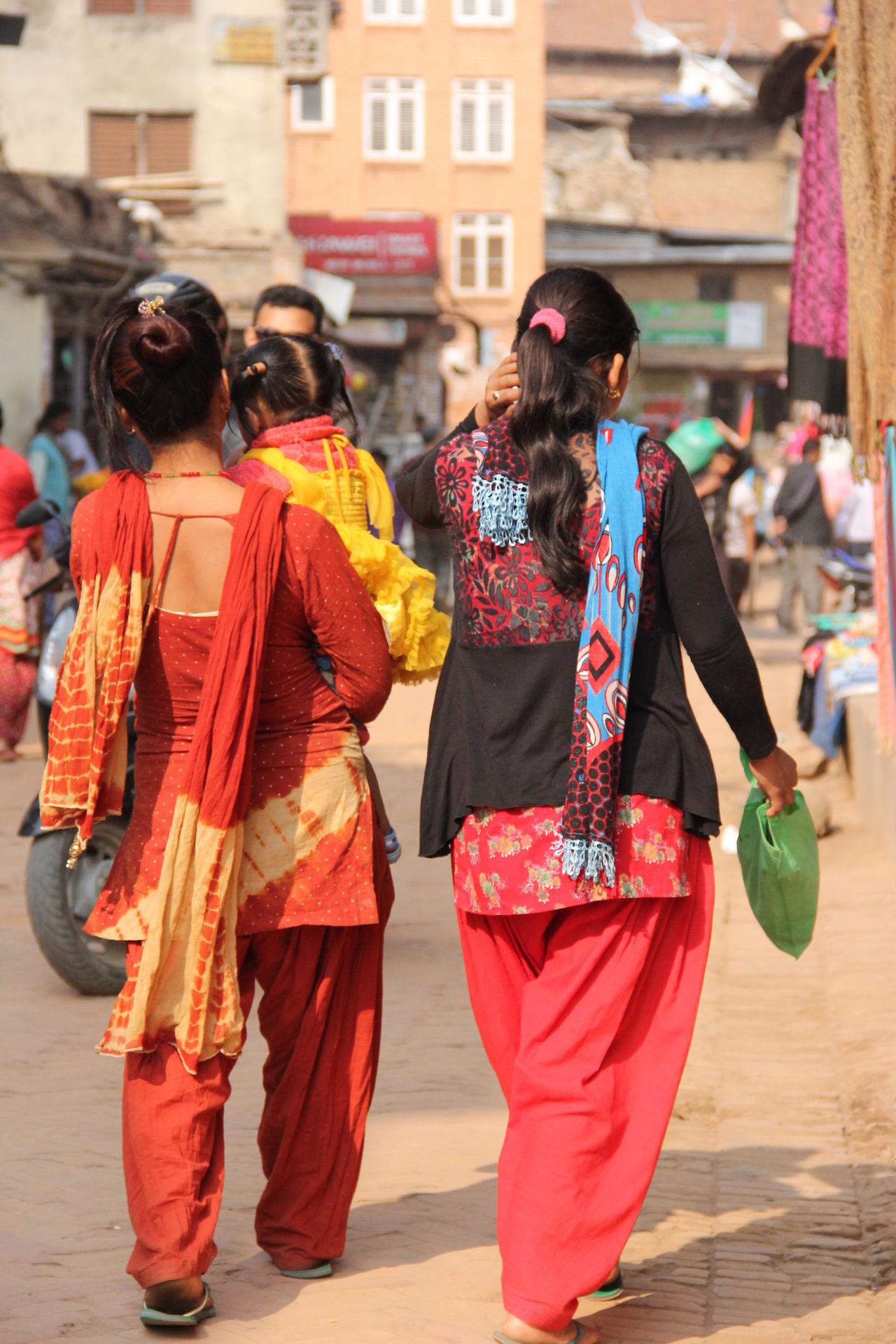 Street Women Traditional Clothing Nepalipeople😊 nepal travel