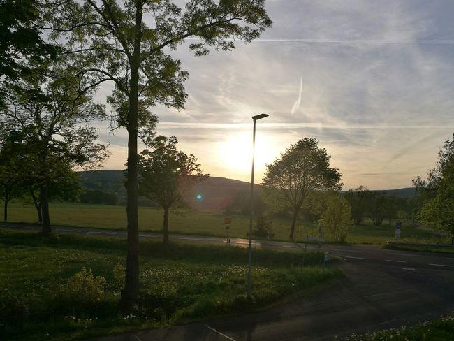 Sonnenuntergang bei Dienstbeginn im Vogelsberg First Eyeem Photo