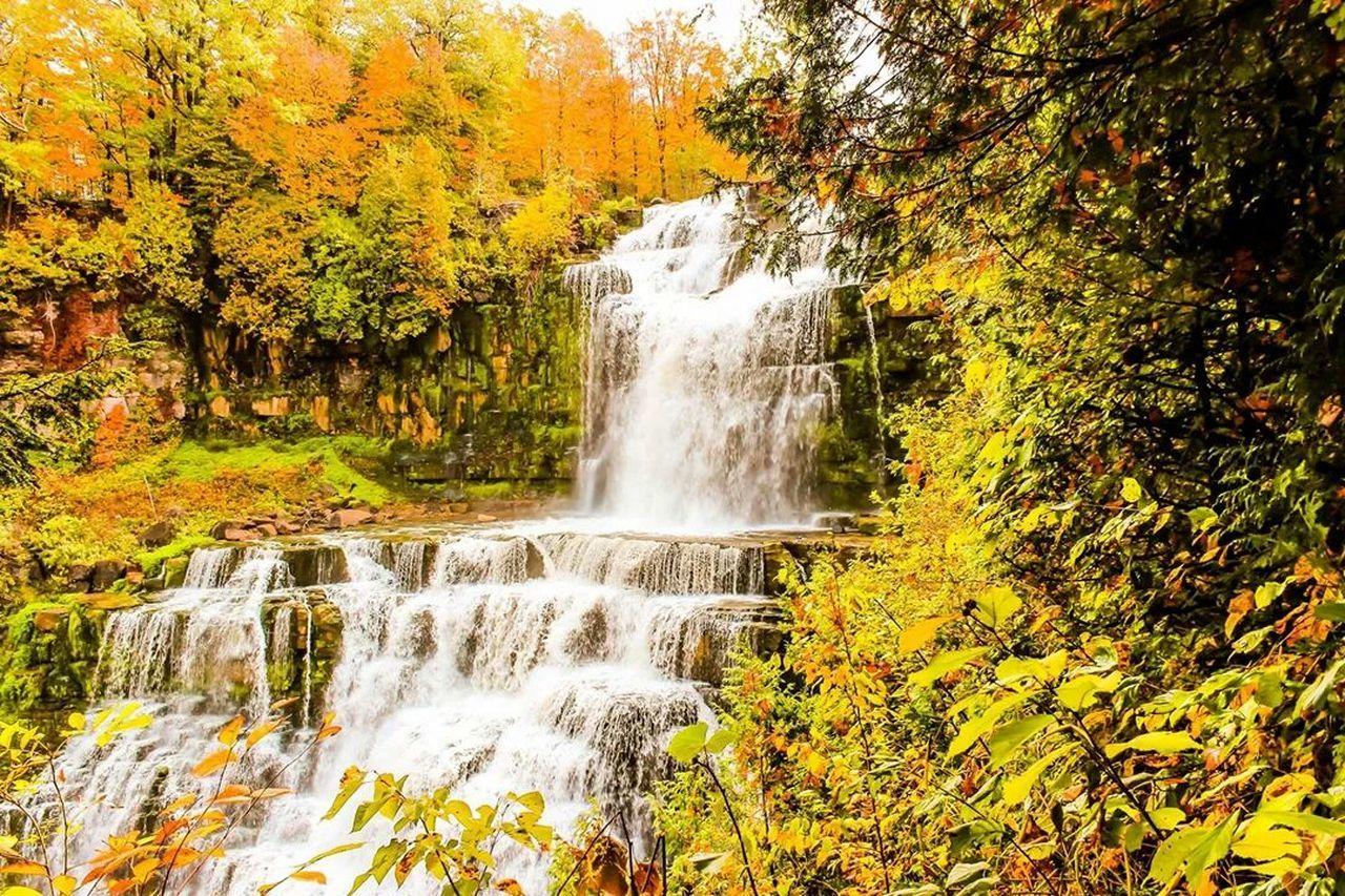 Waterfall Fall Newyork Colors