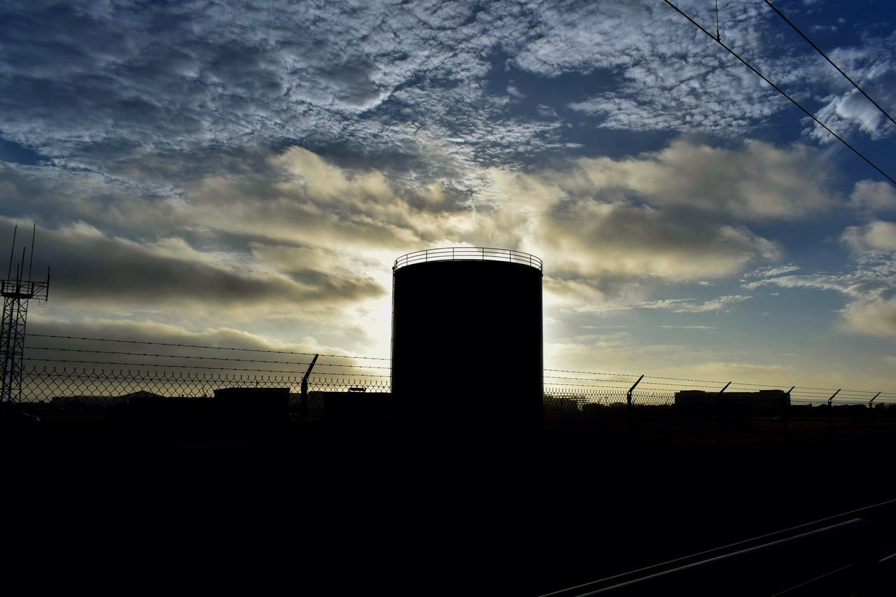 no people, sky, silhouette, industry, built structure, cloud - sky, architecture, factory, day, outdoors, sunset, building exterior, nature