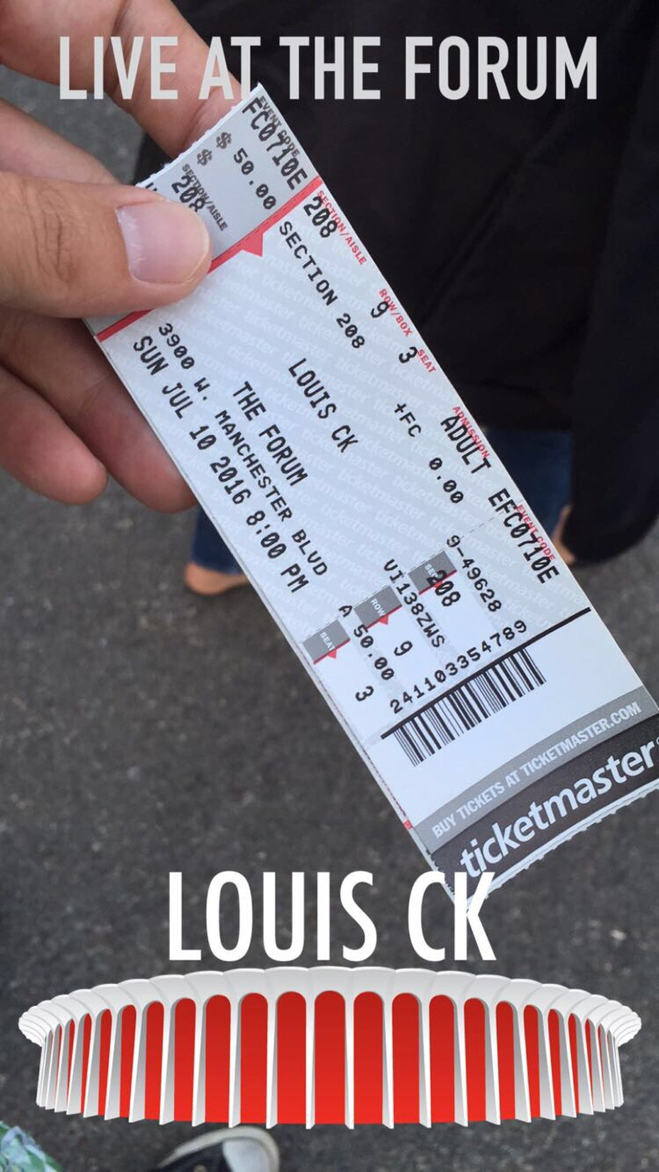 Comedy Tickets Louis C.K. Fun Time