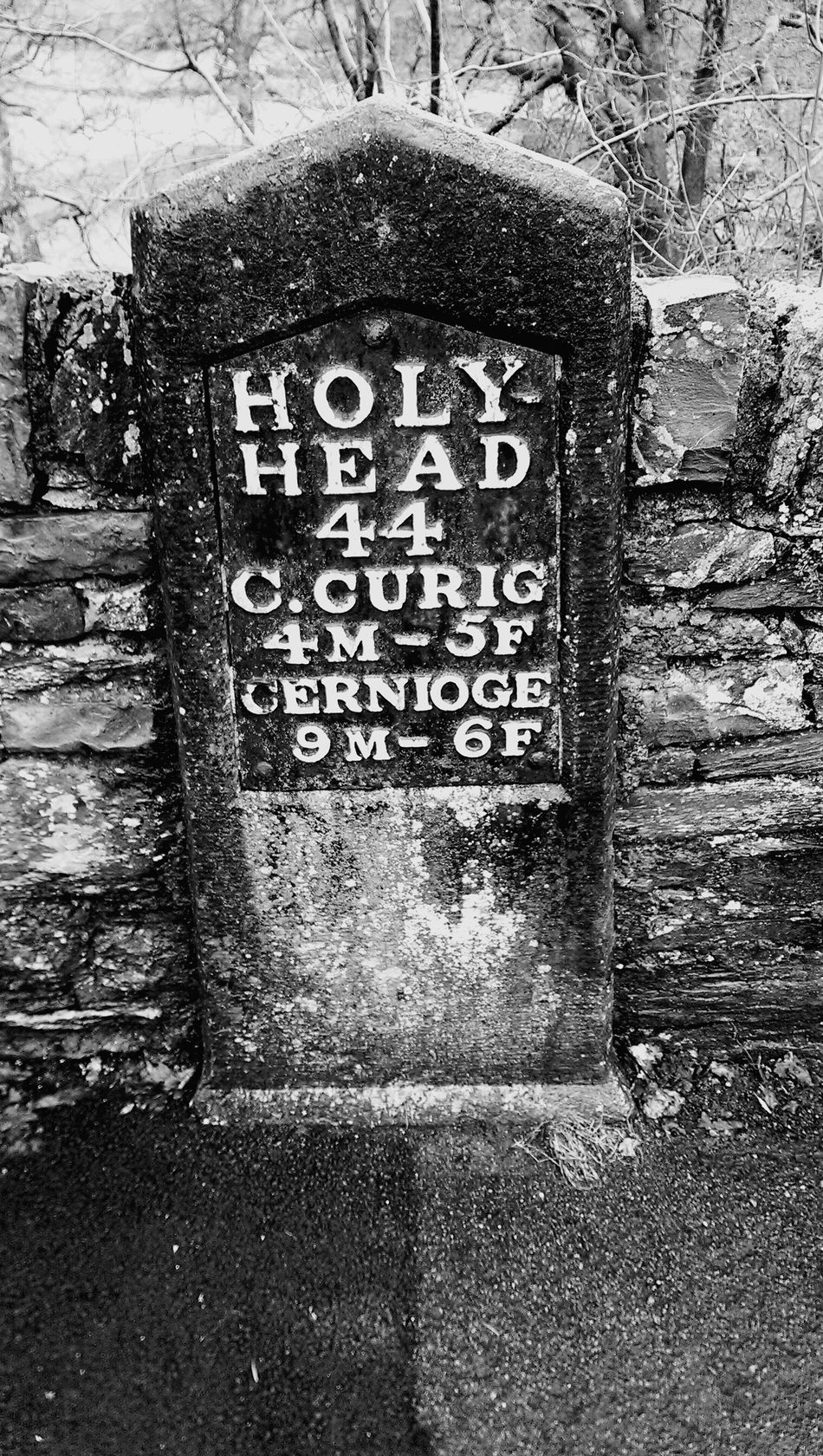 Old road sign ...