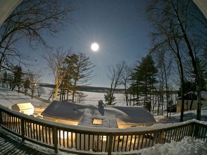 Peace And Quiet Lake Winnisquam Burried In Snow