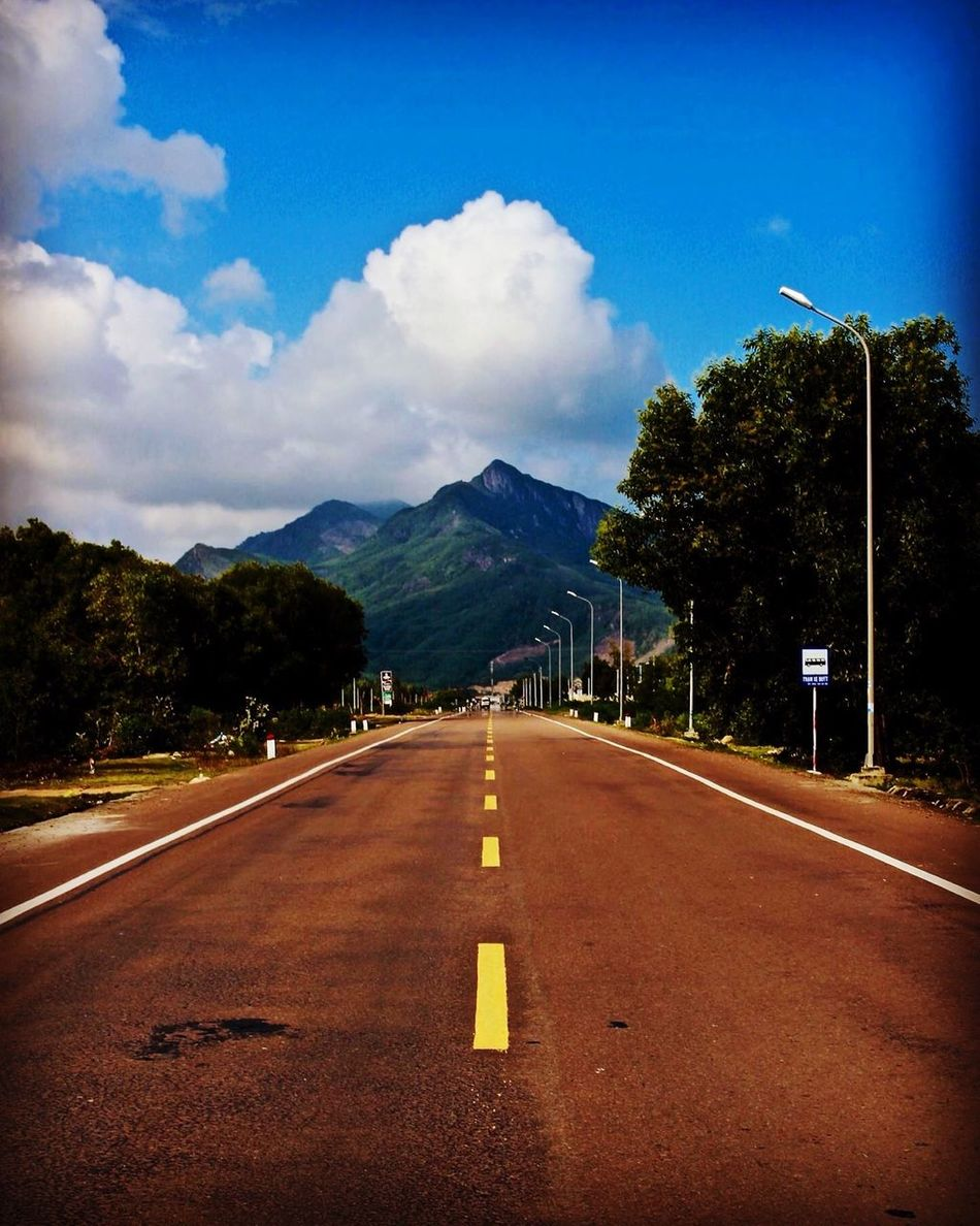 Road Road Marking The Way Forward Mountain Sky Transportation Asphalt Cloud - Sky Outdoors No People Day Scenics Nature Vacations Vietnam EyeEmNewHere