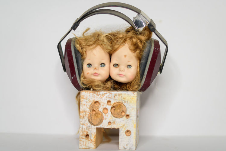 Child Childhood Children Only Close-up Deaf Deafworld Doll Heads Headphones Indoors  One Person Sound Twins Two Lieblingsteil
