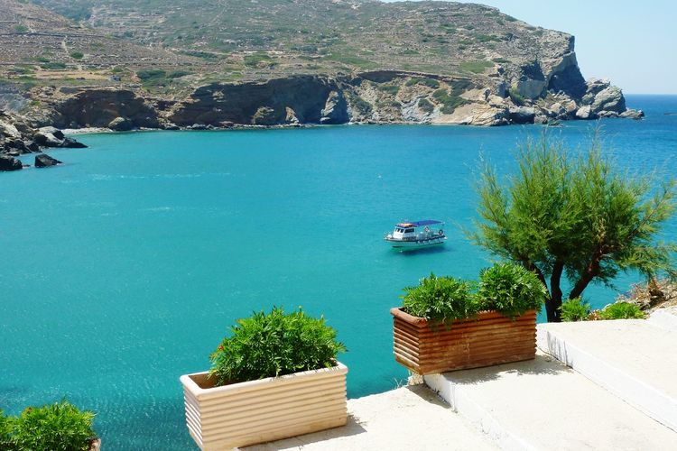 Greece Islandhopping Water Sea Travel Destinations No People Nature Blue Sea View Boat