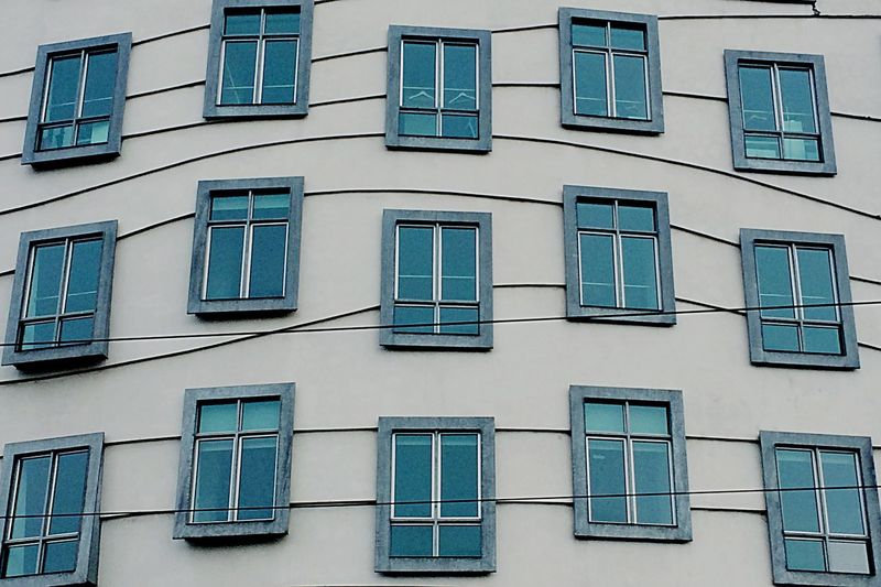 Architecture Rows Of Things Windows