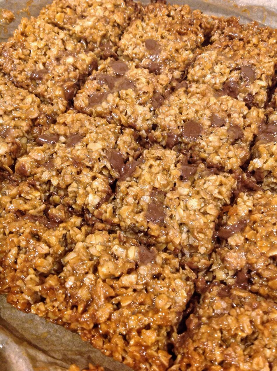 Healthy Eating Oats - Food Sweet Food Close-up Freshness Homemade Food Ready-to-eat Flapjack Freshly Baked Food Photography Chocolate Chips Puddings Fresh Out The Oven Perspective Shot From Above  Close Up
