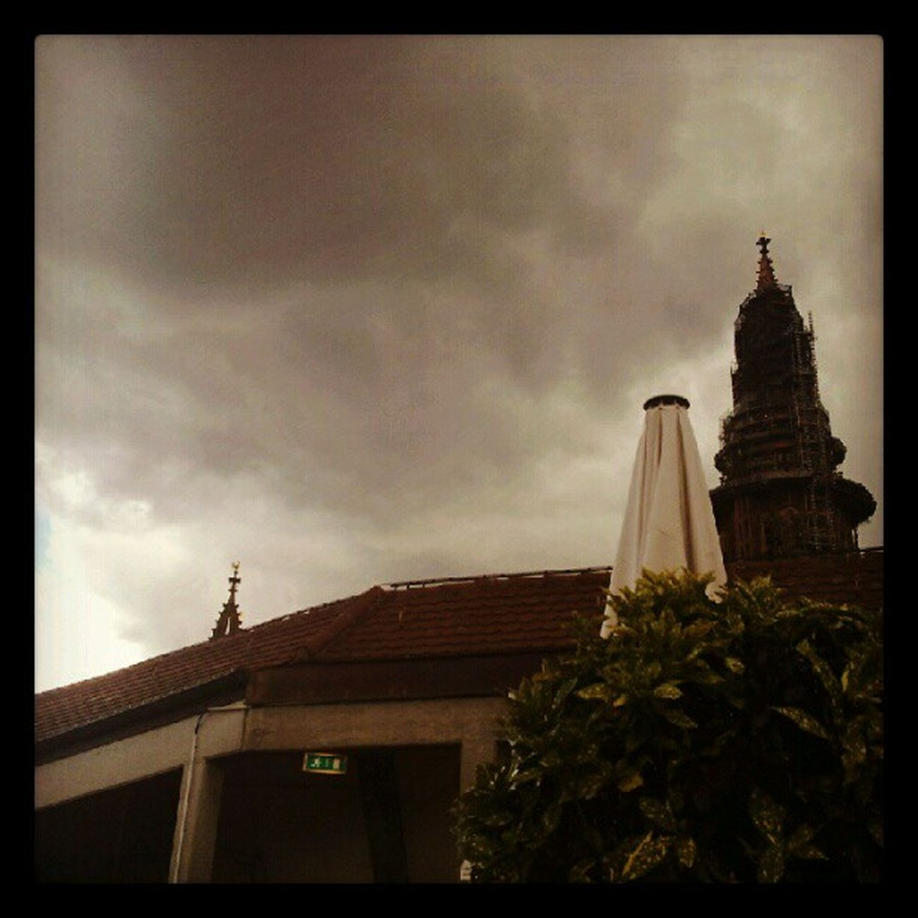 Rainy clouds about to hit Freiburg Germany